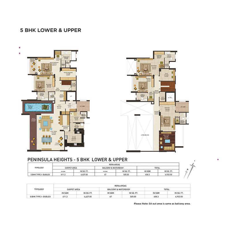 5BHK Floor Plan